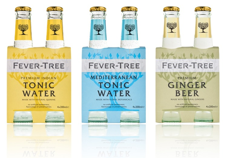 Fever-Tree Premium Indian Tonic Water, Premium Mediterranean Tonic Water und Premium Ginger Beer 4-Pack mit 4 x 200ml Glasflaschen